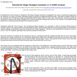 Tutorial for Magic Designer v.1.3 (2009 Windows version)