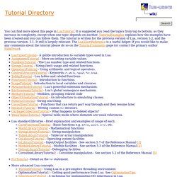 wiki: Tutorial Directory