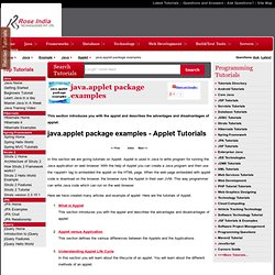 Java Applets,Free Java Applet,Java Applets Tutorial,Download Java Applets,Java Applet Tutorials