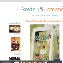 Tutorial: Shabby Chic Dangly Earring Display | Kevin & Amanda - StumbleUpon