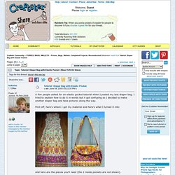 Tutorial: Diaper Bag with Elastic Pocket