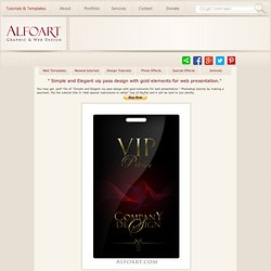 Tutorial on how to make Elegant and glossy black vip pass with gold letters and stylish logo