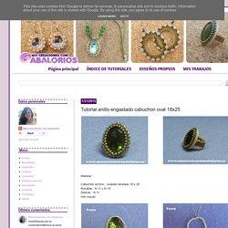 www.miscreacionesconabalorios.es: Tutorial anillo engastado cabuchon oval 18x25