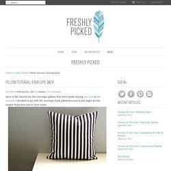 Pillow Tutorial: Envelope Back