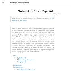 Tutorial de Git en Español · Santiago Basulto