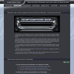 Tutorial de estilos para Photoshop: tutorial de efectos de metal