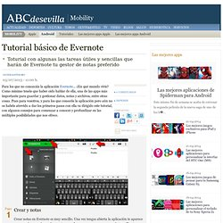 Tutorial básico de Evernote