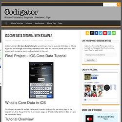 iOS Core Data Tutorial With Example - Codigator