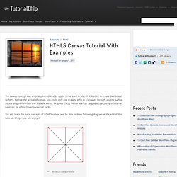 HTML5 Canvas Tutorial With Examples