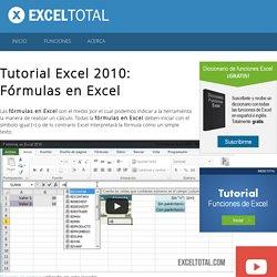 Tutorial Excel 2010: Fórmulas en Excel - Excel Total