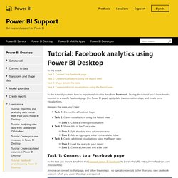 Tutorial: Facebook analytics using Power BI Desktop