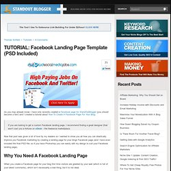 TUTORIAL: Facebook Landing Page Template (PSD Included)