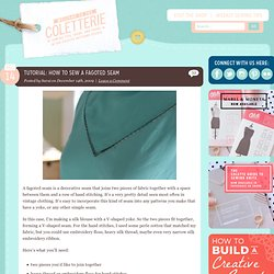 How to sew a fagoted seam