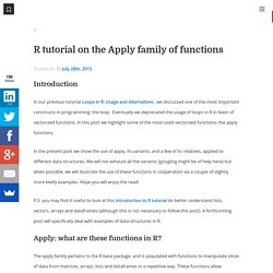 R tutorial on the Apply family of functions