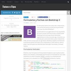 Formularios y Formas con Bootstrap 3