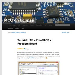 Tutorial: IAR + FreeRTOS + Freedom Board