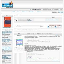 Tutorial: Keine Angst vor dem function handle - Mein MATLAB Forum - goMatlab.de