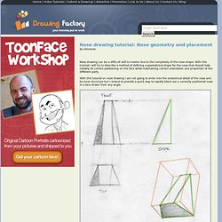 Nose drawing tutorial: a geometrical approach