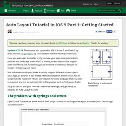 Auto Layout Tutorial in iOS 9 Part 1: Getting Started