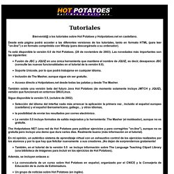 Tutorial de Hot Potatoes