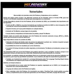 Tutorial de Hot Potatoes