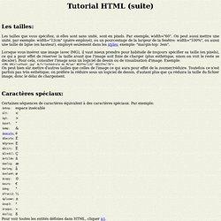Tutorial HTML (suite)