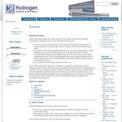 Tutorial | Hydrogen