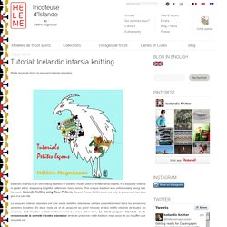 Tutorial: Icelandic intarsia knitting