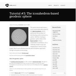 Tutorial #3: The icosahedron-based geodesic sphere