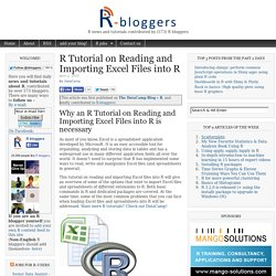 R Tutorial on Reading and Importing Excel Files into R
