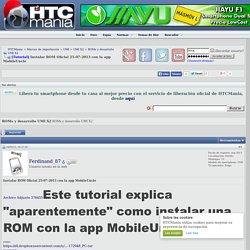 Tutorial Instalar ROM Oficial 25-07-2013 con la app MobileUncle