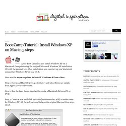 Install Windows XP on Mac in 5 steps - Digital Inspiration