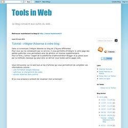 Tutorial - intégrer Adsense à votre blog