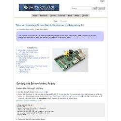 Tutorial: Interrupt-Driven Event-Counter on the Raspberry Pi