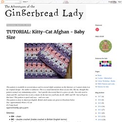 Kitty-Cat Afghan - Baby Size