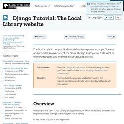 Django Tutorial: The Local Library website - Learn web development