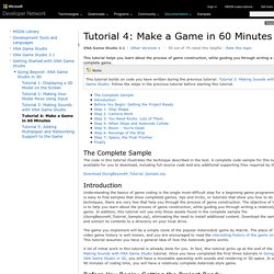 Tutorial 4: Make a Game in 60 Minutes