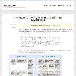 Tutorial: Using jQuery Masonry with WordPress
