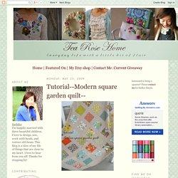 Modern square garden quilt