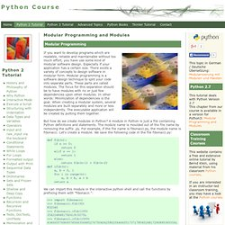 Python Course: Modular Programming and Modules