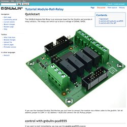 Tutorial Module-Rail-Relay - GNUBLIN