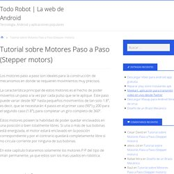 Tutorial sobre Motores Paso a Paso (Stepper motors)