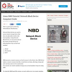 Linux NBD Tutorial: Network Block Device Jumpstart Guide