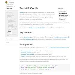 Tutorial: OAuth