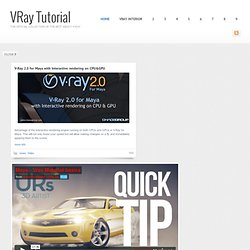 VRay Tutorial | All about V-Ray