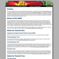 Tutorial One - the GIMP