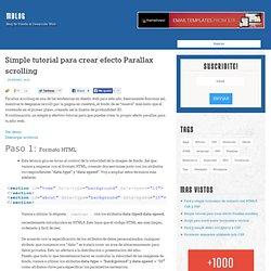 Simple tutorial para crear efecto Parallax scrolling - MBlog : MBlog