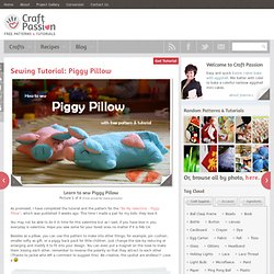 Picture 208 « Sewing Tutorial: Piggy Pillow