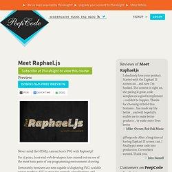 Raphael.js Tutorial