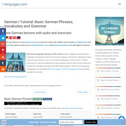 German I Tutorial: Basic German Phrases, Vocabulary and Grammar